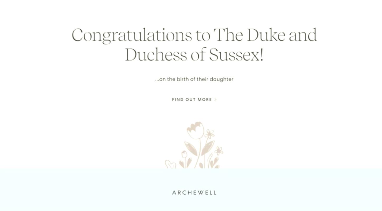 Meghan và Harry đặt tên con gái mới chào đời theo tên Nữ Hoàng và Diana