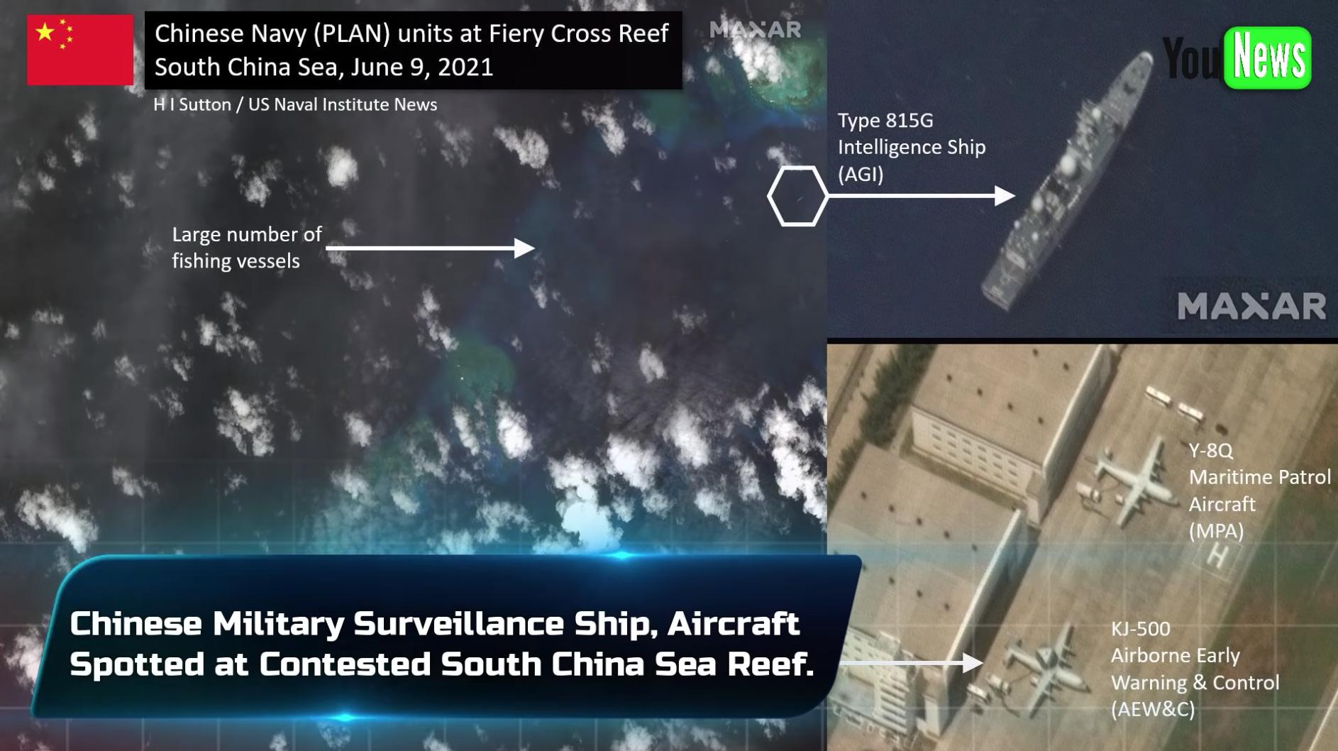 Trung Cộng điều thêm tàu và máy bay do thám đến biển Đông