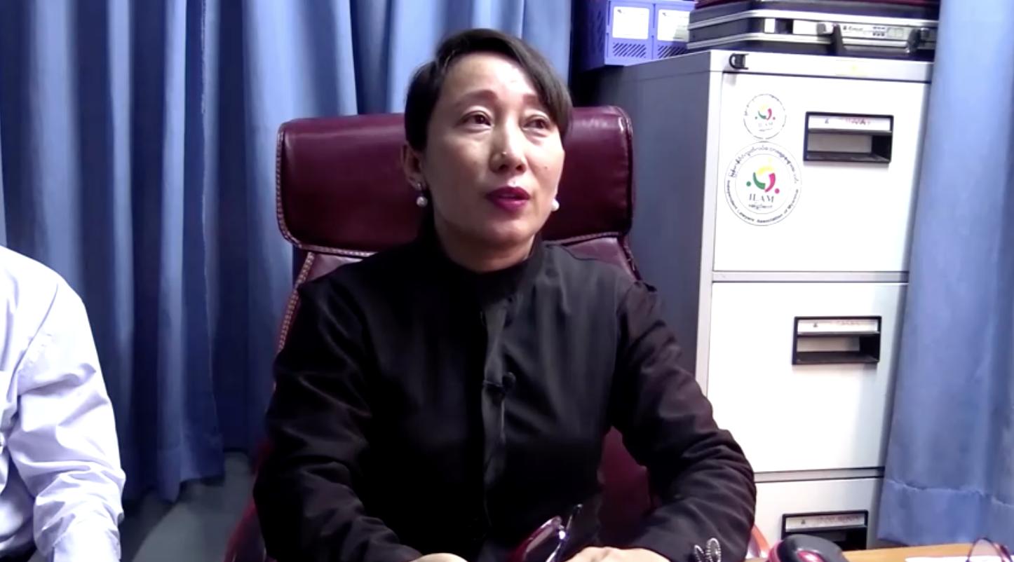 Bà Aung San Suu Kyi của Myanmar xuất hiện tại tòa