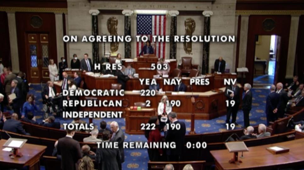 Hạ Viện bỏ phiếu thành lập ủy ban do đảng Dân Chủ lãnh đạo điều tra về cuộc tấn công ở tòa nhà Quốc Hội Hoa Kỳ