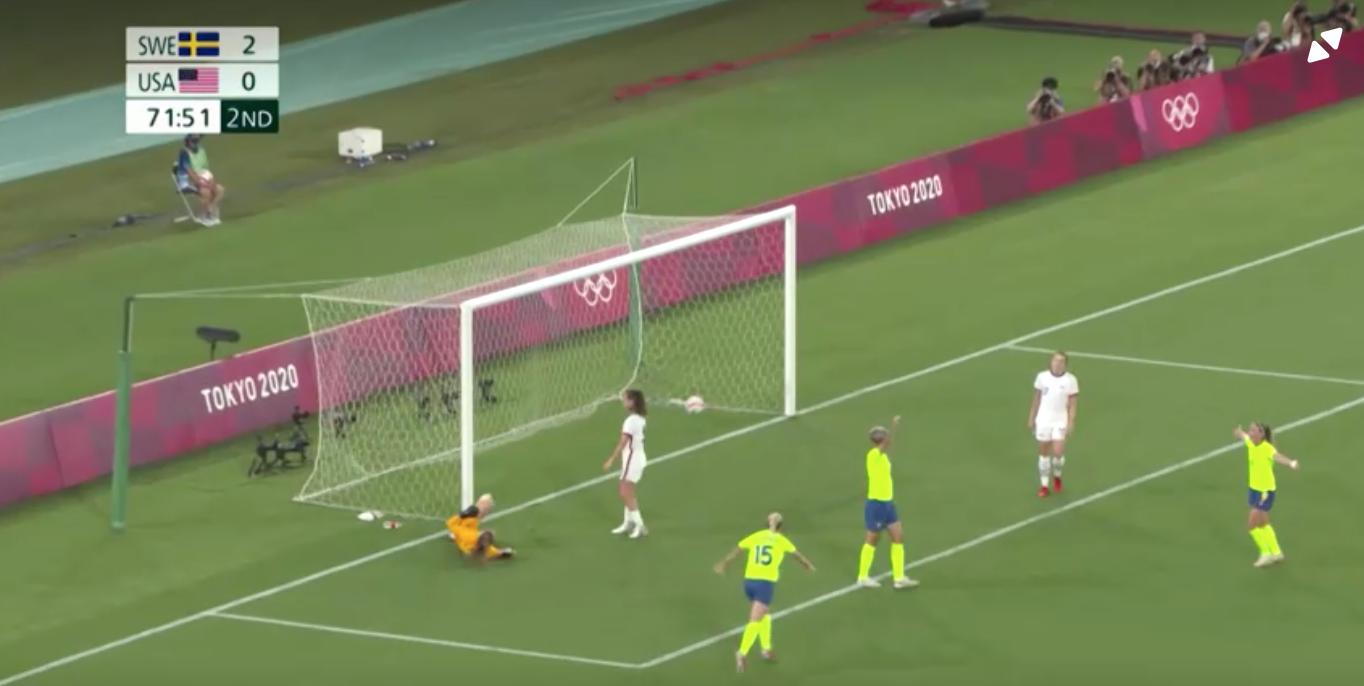 Đội túc cầu nữ Hoa Kỳ thua 0-3 trước Thụy Điển tại thế vận hội