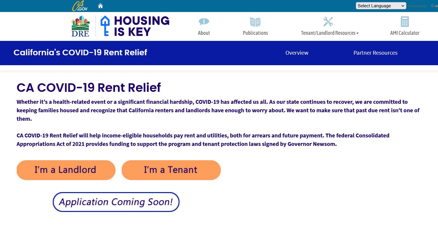 Cập nhật chương trình trợ giúp thuê nhà trong đại dịch COVID-19 của California