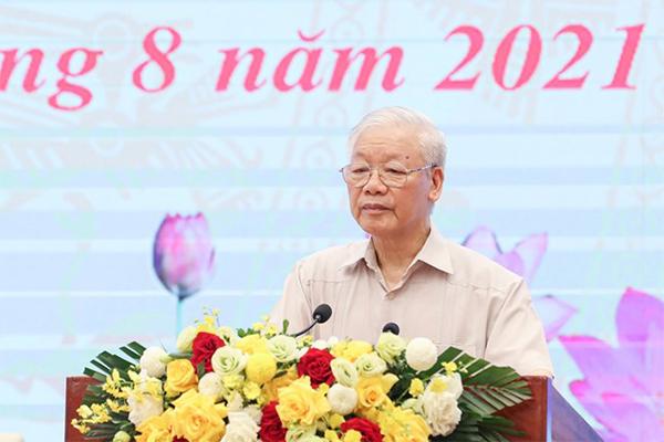 """Nguyễn Phú Trọng vẫn yêu cầu phải chống âm mưu """"diễn biến hoà bình"""" của các thế lực thù địch trong mùa dịch"""