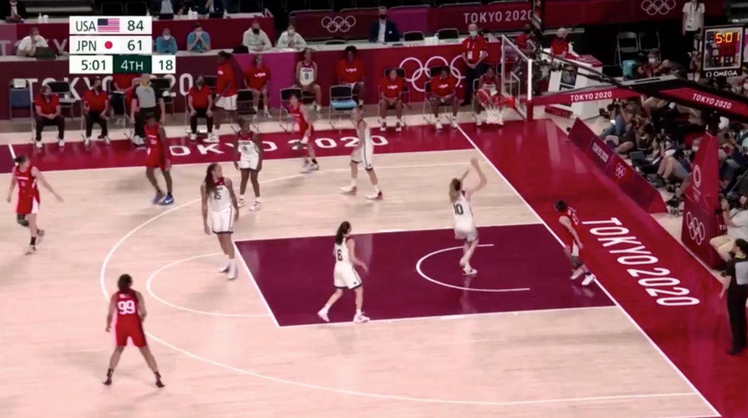 Đội tuyển bóng rổ nữ Hoa Kỳ giành huy chương vàng sau khi đánh bại Nhật Bản với tỷ số 90-75
