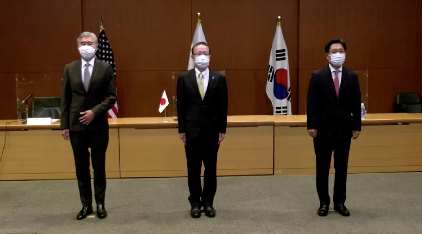Các đặc phái viên nguyên tử từ Nhật Bản, Hoa Kỳ và Nam Hàn họp mặt sau vụ thử nghiệm hỏa tiễn ở Bắc Hàn