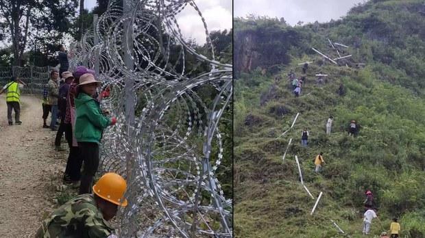 Người dân vùng biên giới Việt Nam dỡ bỏ hàng rào điện của Trung Cộng