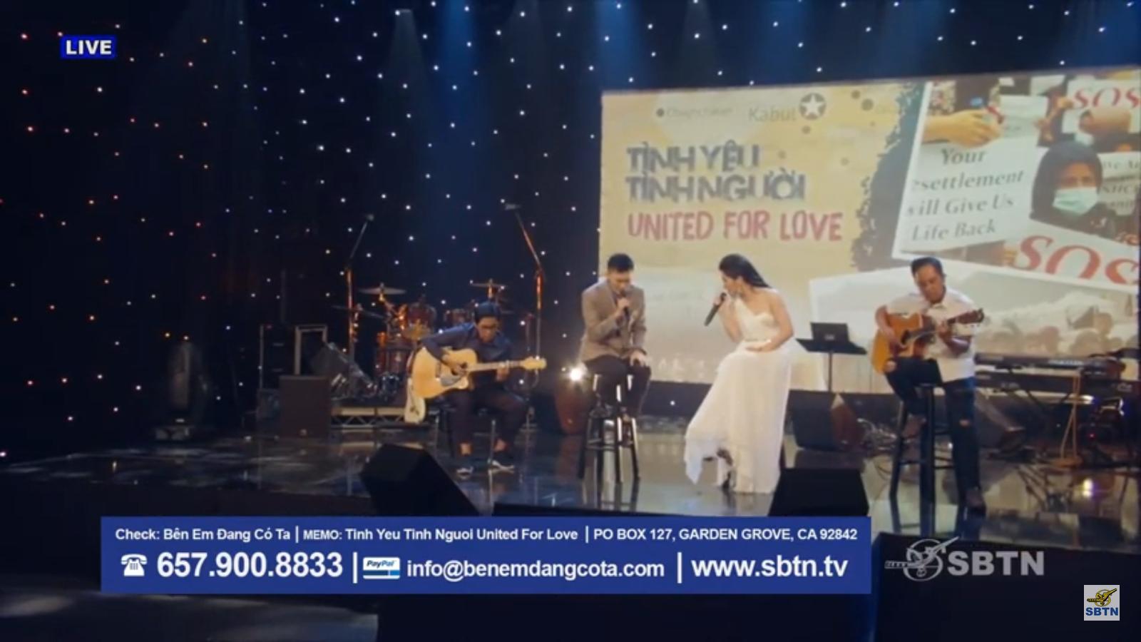 Cộng đồng Việt Nam hải ngoại gây quỹ được hơn $160,000 mỹ kim cho người tỵ nạn Afghanistan trong chương trình ca nhạc trên SBTN